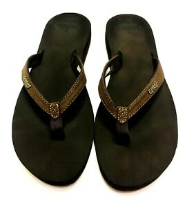 Reef Cushion Luna Flip Flops Sandals  Womens Sz 8.5-9 Brown Clean Mint Condition
