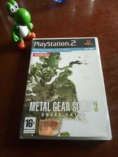 METAL GEAR SOLID 3 SNAKE EATER ps2 PlayStation PAL ITA RARE HIDEO KOJIMA