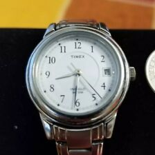 Timex Indiglo Womens Analog Watch Date 50M Stainless Steel Case and Band