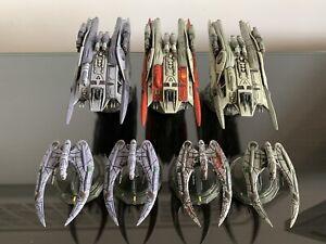Battlestar Galactica Starship Battles Cylon Raiders & Heavy Raiders (models only