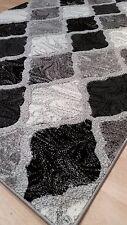 Rug Runner Door Mat Thick Dense Soft Pile 3d Modern Designs 2017 All Floors 70x300 Cm Harlequin Black Grey