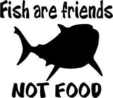 Custom Vinyl Car Decal Sticker Fish Are Friends Not Food Finding Nemo Bruce