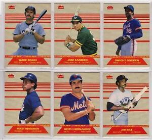 1987 Fleer 6-card Headliners Baseball Insert Set  Jose Canseco