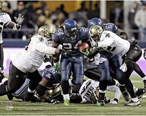"Marshawn Lynch Seattle Seahawks Unsigned NFC Wild Card Run 11"" x 14"" Photo"