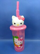 Hello Kitty Sport water bottle tumbler Cup 3 D Top Lid with Straw ZAK BPA FREE