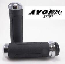 "Avon Chrome V Cruiser Motorcycle Grip 1"" Handlebar Aluminum Harley Davidson"
