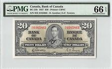Canada 1937 BC-25b PMG Gem UNC 66 EPQ 20 Dollars (Gordon-Towers)