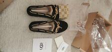 Genuine UGG Water Resistant Slip on Flats lofer Shoes Size UK 5.5 black
