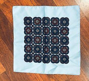 Men's Pocket Square Handkerchief Blue Scarf Pochette 13 in. x 13 in.