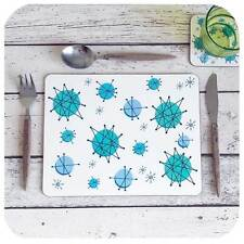 Atomic Starburst Placemats, 50s Placemats, Fanciscan Placemats, 50s home decor
