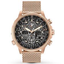 Citizen JY8033-51E NAVIHAWK Atomic Rose-Gold Mens Watch