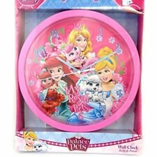 KIDS ROOM WALL CLOCK OFFICIAL DISNEY PRINCESS PALACE PETS CINDERELLA ARIEL