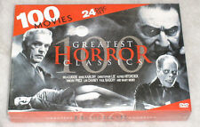 Horror Classics 100 Peliculas Bela Lugosi Lon Chaney Vincent Price DVD Box Set