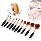 Professional Makeup Brush Set 10PCS Oval Cream Kabuki Toothbrush Foundation Tool