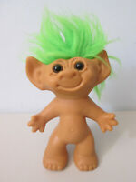 "Uneeda Doll Company Troll 8"" Green Hair"