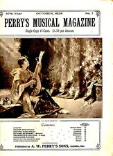 Perry's Musical Magazine OCT 1928 playing  cover