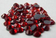 Strass MC Stone collection 100pz SS16 4mm Siam Rosso scuro termoadesivi hotfix