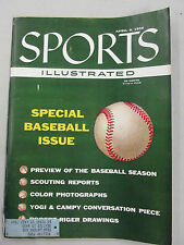 SPORTS ILLUSTRATED 1956 APRIL 9 SPECIAL BASEBALL ISSUE MUSIAL MANTLE YOGI ++++