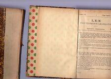 lex mesures législatives récolte aperçu chronologique 1939 completo 2 volumes