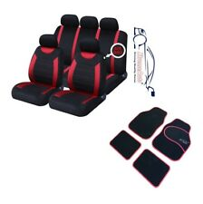 9 PCE Sports Carnaby Red / Black CAR Seat Covers + Matching Mat Set Volkswagen