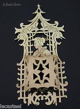 flandre - superbe pyrogène porte fidibus en laiton à décor japonisant
