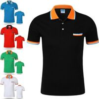 New Polo Shirt Men Cotton Short Sleeve Slim Fit Casual Fashion Breathable Shirt