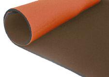 neoprene bifoderato 35x40 - spessore 3 mm - arancio/oliva