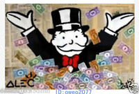Alec monopoly Graffiti Handcraft Modern Oil Painting Wall Art on Canvas 24x36