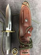 """Randall Made Knife. Model 18 Survival 5 1/2"""" Blade. Compass in cap"""