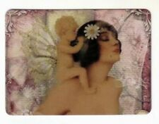 Beautiful Art Deco  Fairy Lady and Fairy Baby - Modern Swap Playing Card