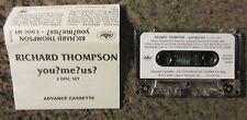 "RICHARD THOMPSON ""YOU?ME?US?"" 1992 2 DISC SET-UNPLAYED OOP ADVANCE PROMO TAPE"