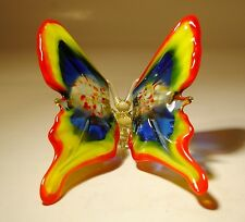 """Blown Glass Figurine """"Murano"""" Art Red, Yellow and Blue BUTTERFLY"""
