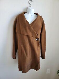$629 NWT OSKA Jacke Alba Brown Jacket Size 4 One Side Button