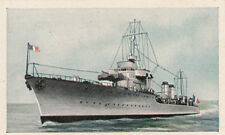 N°124 French Cruiser Bison Cannon World War Germany WWI 30s CHROMO