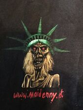 Rare Iron Maiden Promo Tour Shirt Sz L Evil Rock Heavy Satanic Metal 666 80's