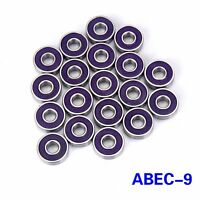 8pcs ABEC-9 608 Skateboard Bearing Skating Longboard Skate Wheel Bearings Purple