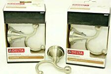 Delta Crestfield Double Robe Hook Multi-Purpose Satin Nickel Finish 138037 Three