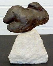ROBERT CRONBACH Vintage FEMALE NUDE Modernist BRONZE & MARBLE 1960 Art Sculpture