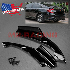 2Pcs Gloss Black Rear Bumper Lip Diffuser Splitter For 2016-2018 Honda Civic