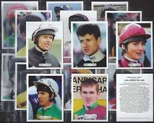 GDS-FULL SET- FAMOUS JOCKEYS SERIES 1 - HORSE RACING (L20 CARDS) - EXC+++