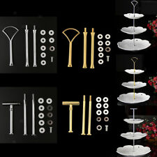 2 or 3 Tier Cake Stand Fruit Pan Plate Heavy Metal Handle Fitting Hardware Rod