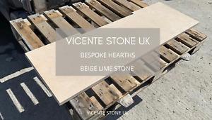 Stone Hearth 30mm | Beige Lime Stone | CNC | Fast TurnAround | Nationwide