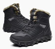 Men's Winter Waterproof Fur Snow Boots Outdoor Hiking Super Warm Climbing Shoes