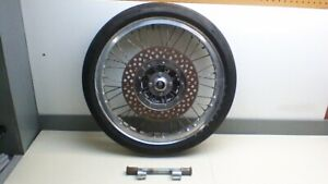 kz 900 Borrani aluminum spoked wheel 19x2.25 with drilled rotor dragbike AHRMA