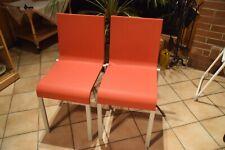 Vitra Chair Esszimmer-Stuhl 03. Design by Maarten Van Severen in Poppy Red Top