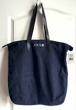 NEW Joe's Jeans dark blue denim Recycle tote shopper bag with leather handles