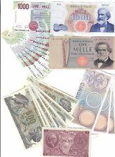 5 + 500 + 1000 lire 23 banconote spl/fds  LOTTO 291