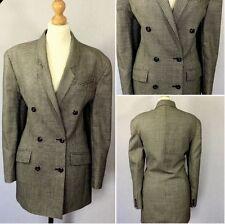 Marks & Spencer Ladies Authentic 80s Vintage Black Dogtooth Check Jacket UK 12