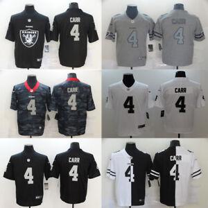 NEW HOT #4 Derek Carr Oakland Raiders Series Men's Stitched Genuine Jersey