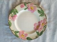 "2 Vintage Franciscan Desert Rose Luncheon Plates 9 5/8"" California Stamp1953-58"